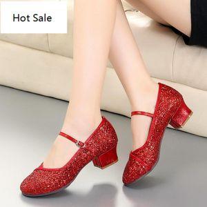 أحذية تو الرقص في الهواء الطلق الرقص اللاتينية السالسا قاعة رقص المرأة جولة زائد الحجم 41 Zapatillas موهير