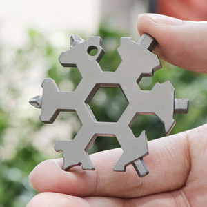 Snowflake Multi Tool 18 in 1 Snowflake Multitool Wrench Bottle Openers Bike Fix Tool Snowflake Christmas Gift for Man