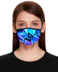 3D Butterfly Designer Masks Cotton Printed Mouth Mask Women Men Resuable Washable Protective Mask 22 Styles w-00024