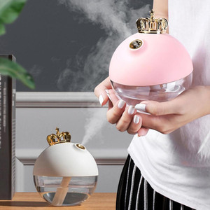 New 50ML Cute Crown Face Humidifier Facial Sprayer USB Mini Air Nano Nebulizer Steamer Hydrating Women Beauty Skin Care Tool