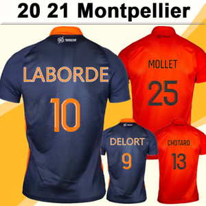 20 21 Montpellier Laborde Mens Soccer Jerseys Delort Savanier Hilton Chemise de football Football Ferri Chotard Molet Uniformes à manches courtes