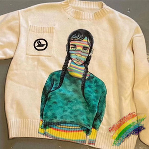 Свободный свитер Мужчины Женщины 1 Высокое качество Crewneck 2021FWss свитер