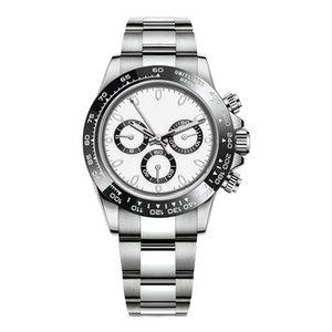 Relojes para hombre de lujo 116500ln 116500 Diseñador Montre de Luxe Movimiento automático Relojes de pulsera Cerámica Bisel 316L Steel Sin cronógrafo