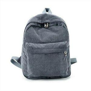 Lovely Women Bag Corduroy Travel School Backpack Book Bags For Teenager Girls Lady Midi Shoulder Bag Female Rucksack