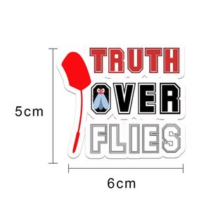 Truth Over Lies Biden Fly Swatter Debate Sticker Waterproof Christmas Decoration Truth Over High Visibility Items With Price jllXOE