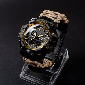 SHIYUNME Men Sports Electronic Watch Compass Military Waterproof LED Digital Quartz Dual display Watch Watches Relogio Masculino LJ201202