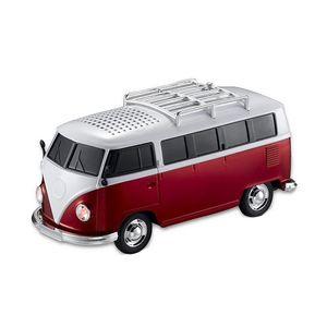 New Colorful Mini Bluetooth Speaker Car Shape Mini Bus Speaker Support Fm +U Disk Insert Card Mini Speaker Mp3 Player Red