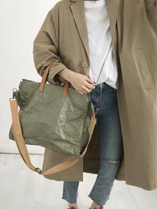 Women Latest Fashion Handbags Lady Shoulder Bag Kraft Paper Totes Messenger Bag Washable Tear resistant Environmentally Friendly
