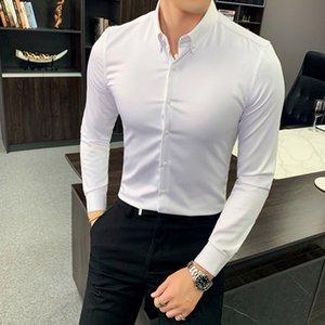 2020 tong shirtnew boysshirt enfants chen chen shan shan costume de couleur unie avec ajustement mince coréenne revers long shirt manches Nazig Naz