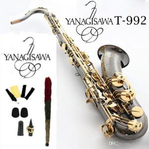 Новая Япония Янагисава Тенор Saxophone T-992 Модель BB Черный Золотой Саксофон с Музыкальными инструментами Аксессуары 4с мундштуки