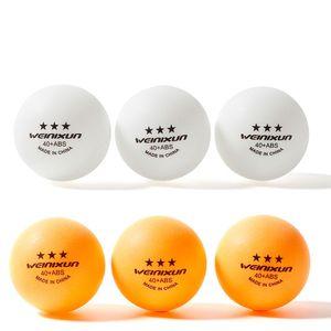 10pcs ABS Matériel Balles de tennis de table 3 étoiles 40 + mm Ping Pong 2.8g plastique Balles pour TableTennis Tenis PingPong balle
