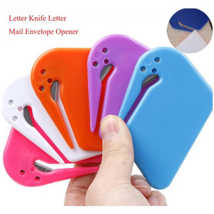 البلاستيك مصغرة إلكتروني سكين إلكتروني البريد مغلف فتاحة سلامة ورقة حراسة القاطع شفرة المعدات المكتبية لون عشوائي 6agcx