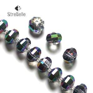 Strebelle New Grigidding Roudelle perline gioielli di vetro perline fai da te 4x6mm 6x8mm 8x10mm