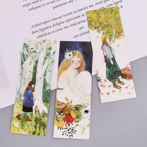 30pcs Girl Bookmarks Paper Page Notes Label Message Card Book Marker School Supplies Stationery B36C