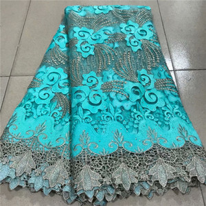 Latest Nigerian French Swiss Voile Lace In Switzerland For Party 2020 green gold New Design African Guipure Laces Fabric