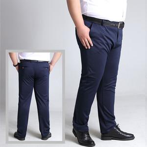I pantaloni degli uomini Dimensione BINHIIRO plus British Style Micro-elastico pantaloni casual uomo autunno di modo sottile vestito convenzionale pantaloni Maschio 8XL 10XL 201014