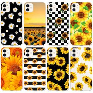 Iphone 12 чехол для Iphone 12 11 Mini Pro Max подсолнуха телефона дело Малого Daisy Малых Цветочной Обложка Shell Cell Moblie