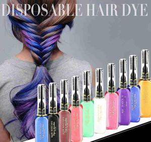 Hot Sale 13 Colors One-time Hair Color Hair Dye Temporary Non-toxic DIY Hair Color Mascara Dye Cream Blue Grey Purple Free Shipping