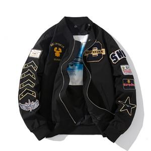 Fashion brand jacket men's multi-standard embroidered MA1 flight suit women's men's coat thin