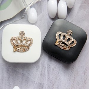 1 PZ Contact Lens Box Travel Portable Contact Lens Case Kit Rhinestone Crown Box Storage1