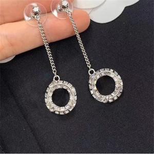 Moda Diamond Hoop orecchini aretes per lady women party wedding lovers regalo di fidanzamento gioielli per la sposa con scatola rossa Y222