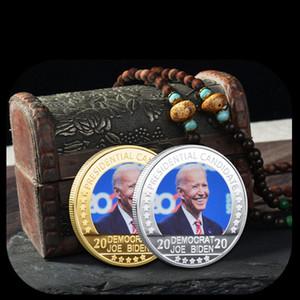 Biden Gold Siliver Placcato Moneta Coatribles USA Sfida presidenziale Monete di mestiere monete con monete commemorative Medaglia Regali del partito VTKY2231