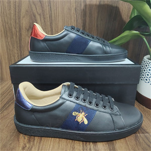 Nouvelle personnalité Casual Shoes Chaussures Chaussures Chaussures avec Top Qualité Véritable Hommes Hommes Femmes Casual Sneakers Vert Red Stripe Scarpe