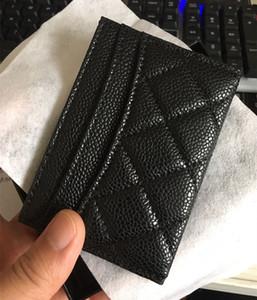 Titulares pretos do cartão do projeto do caviar mini carteiras Homens / titular do cartão das mulheres com hardware de prata do ouro Titular do cartão de crédito com caixa
