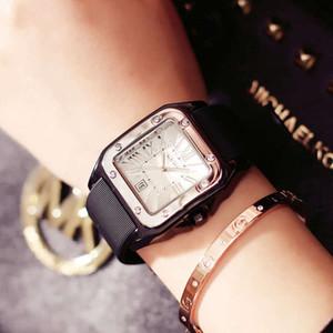 Guou Watch Ocio de los hombres Impermeable Guou Pareja Reloj Women's Watch Silicone Square Regalo Mesa de regalo