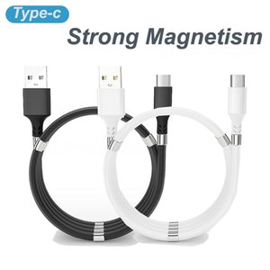 1M 3FT Strong Magnetism High Speed Magnetic Type C USB Cable to C Charging Adapter Data Line Sync Braid Android Micro V8 Cables