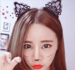 Lady Girls Sexy Cat Ear Black Lace Hairbands Headbands Headwear Party Hair Head Band Accessories ps1057