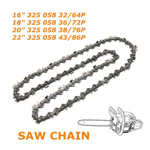 "Saw Chain Semi Chisel Pitch .325 Gauge .058"" 1.5mm Length 16"" 18"" 20"" 22"" Available"