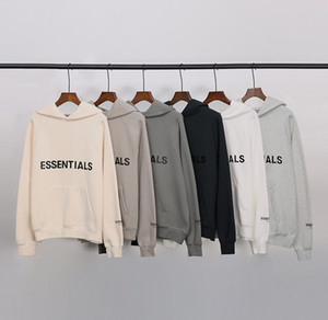 2020SS High Street Miedo a Dios Essentials New Doble Line Niebla Suéter Abrigo de moda Marca de moda Reflexivo Letras Sood Sudaderas con capucha