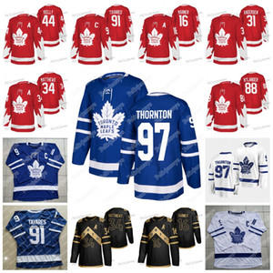Toronto Maple Leafs 2020 Alternatif Kırmızı Jersey Joe Thornton Mitch Marner Auston Matthews Morgan Rielly John Tavares Frederik Andersen