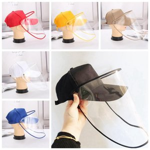 DHL Shipping Protective Hat Removable Safety Face Shield Anti-dust Anti-fog Dustproof Hats Baseball Cap Removable Eyes Protection Mask X39FZ