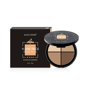 V-line Face Shading Powder Soft 4 Colors Long Lasting Multifunctional Bronzer Highlighter Contour Palette Maycheer Art Class Facial Makeup