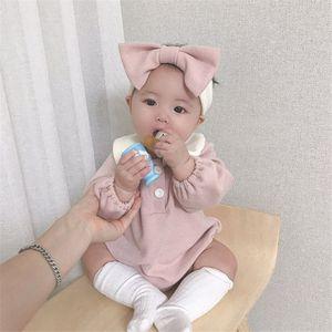 Dibeiberabbit Baby Strampler mit Stirnband Neugeborenen Baby Kleidung Longsleeve Infant Jumpsuit Baumwolle Kleinkind Baby Playsuit insgesamt W1218