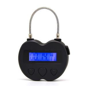 Smart Time Lock LCD Affichage de l'heure Verrouillage multifonction Minuterie électronique, imperméable USB rechargeable timeur temporaire