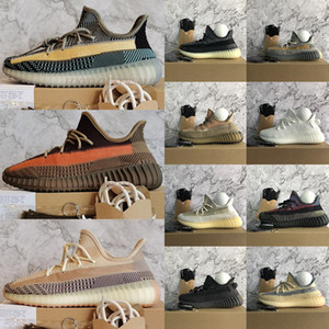 2021 New Ash Stone Blue Pearl Carbon Asriel Kanye West v2 Running Shoes Fade natural reflective mens womens sports sneakers trainers 36-48