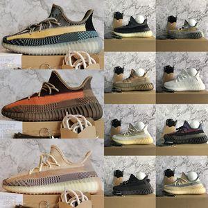 boost  2021 New Ash Stone Blue Pearl Carbon Asriel Kanye West v2 Chaussures de course Fade naturel réfléchissant hommes femmes baskets de sport formateurs 36-48