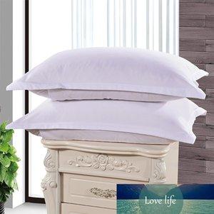 1pc Solid Color-Kissen-Kasten-Abdeckung 100% Polyester Kurz Pillowcase gestrickter Textil Home Hotel Verwenden 48cm * 74cm XF336