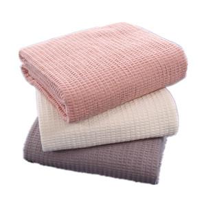 القطن الخالص الهراء على سرير صوفا سهل منشفة لحاف المرأة التفاف السفر رمي بطانية