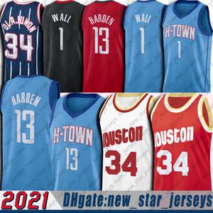 James 13 Harden Jersey John 1 Wall Jerseys Hakeem 34 Olajuwon Jersey Russell 0 Westbrook Jersey