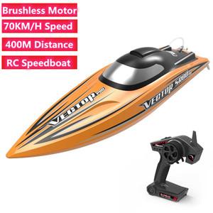 70km / H Yüksek Hızlı Uzaktan Kumanda RC Sürat teknesi Fırçasız Güç Motorlu RC Yarışı Tekne Oyuncak 400M RC Mesafe Yüksek kaliteli