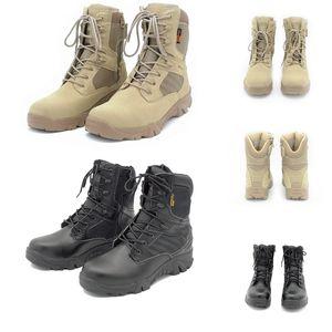 Hombres Cuero de Cuero Delta Delta Táctica Bota Militar Al Aire Libre Top Top Botas de Combate Para Hombre Tamaño 39-46