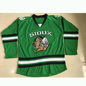 Северная Дакота Борьба сиу хоккей Джерси УЛИЦА рубашку # 16 BOESER NCAA