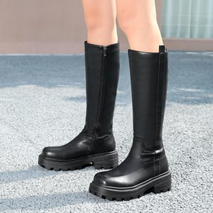 Women's Knee High Boots Platform New Fashion Winter Long boots Shoes Woman Sexy Combat Warm Party Footwear Shoes ZOGEER