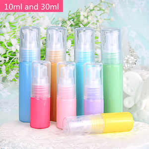 50 X 30ml Plastic Cream Lotion Pump Bottle Macaron Color Small Refillable Cosmetic Container for Travel