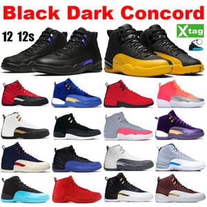 Yeni Jumpman Taksi CYN Gama Mavi Spor Sneakers Running çivit 12 12s Siyah Koyu Concord Üniversitesi Altın basketbol ayakkabıları Ters Gribi Oyunu