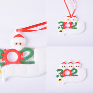 202021 Decoration Survivor Mask Old Man Christmas Tree Hanging Pendant Diy Name Blessing C1P7